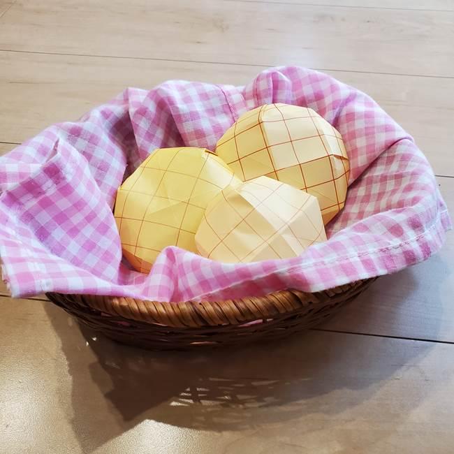 折り紙 メロンパンの折り方作り方は簡単♪子供と手作りままごと遊び!