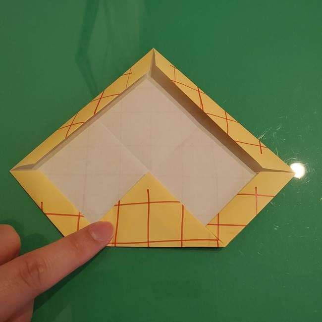 折り紙 メロンパンの折り方作り方(13)
