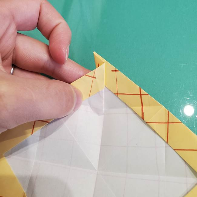 折り紙 メロンパンの折り方作り方(21)