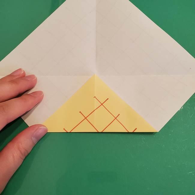 折り紙 メロンパンの折り方作り方(7)