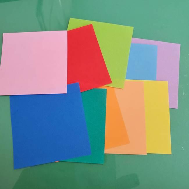 折り紙 花火の貼り絵ちぎり絵 の作り方貼り方①下準備(2)