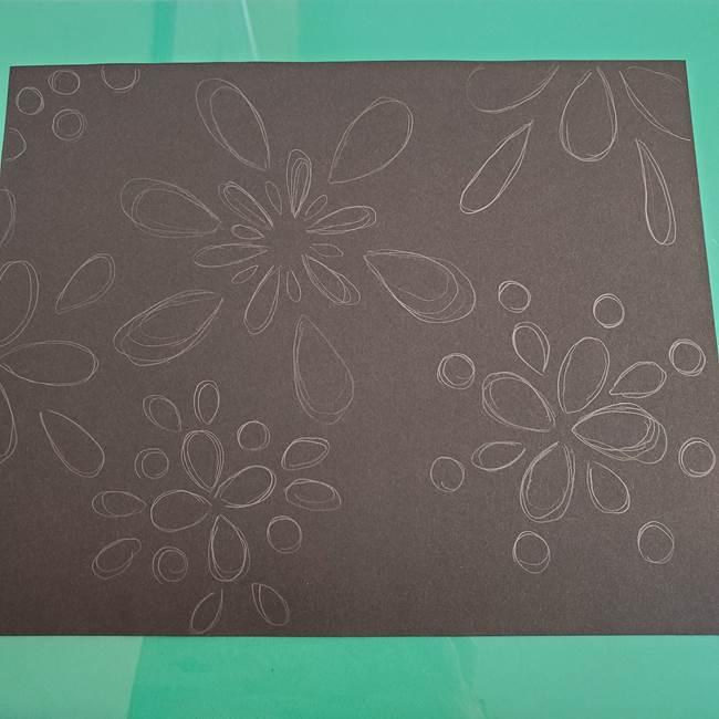 折り紙 花火の貼り絵ちぎり絵 の作り方貼り方①下準備(5)