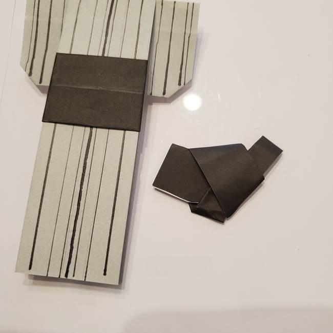 男性用の浴衣の帯の折り方結び方(14)