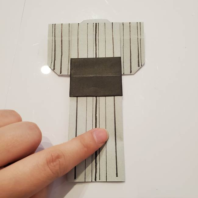 男性用の浴衣の帯の折り方結び方(4)