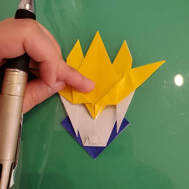 貼り合わせて折り紙のザシアンの完成(2)