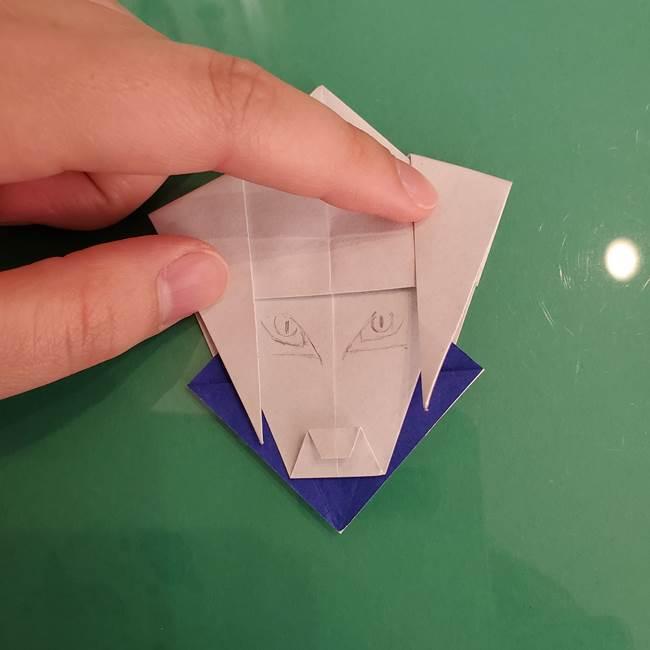 貼り合わせて折り紙のザシアンの完成(3)