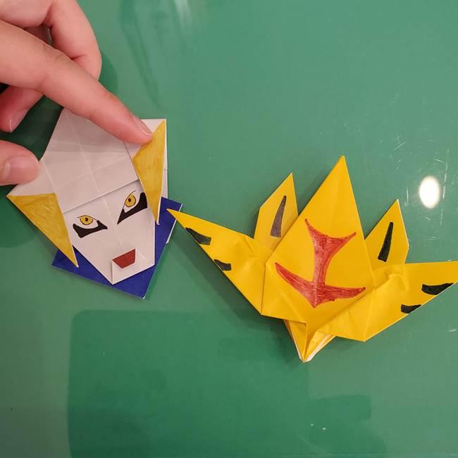 貼り合わせて折り紙のザシアンの完成(5)