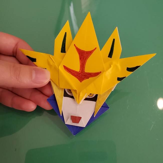貼り合わせて折り紙のザシアンの完成(6)