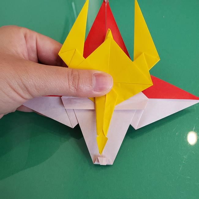 貼り合わせて折り紙のザマゼンタの完成♪(1)