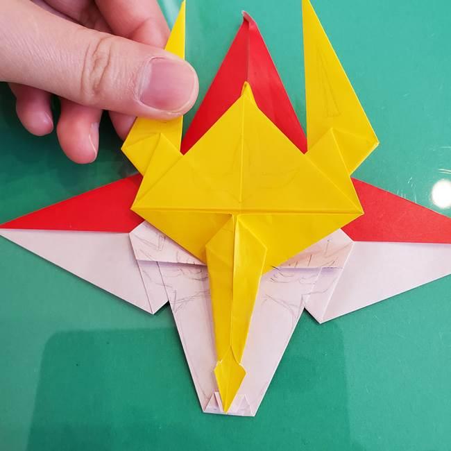 貼り合わせて折り紙のザマゼンタの完成♪(2)