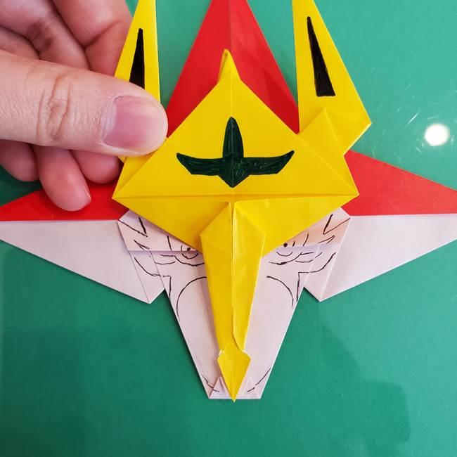 貼り合わせて折り紙のザマゼンタの完成♪(3)