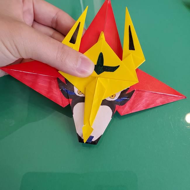 貼り合わせて折り紙のザマゼンタの完成♪(4)