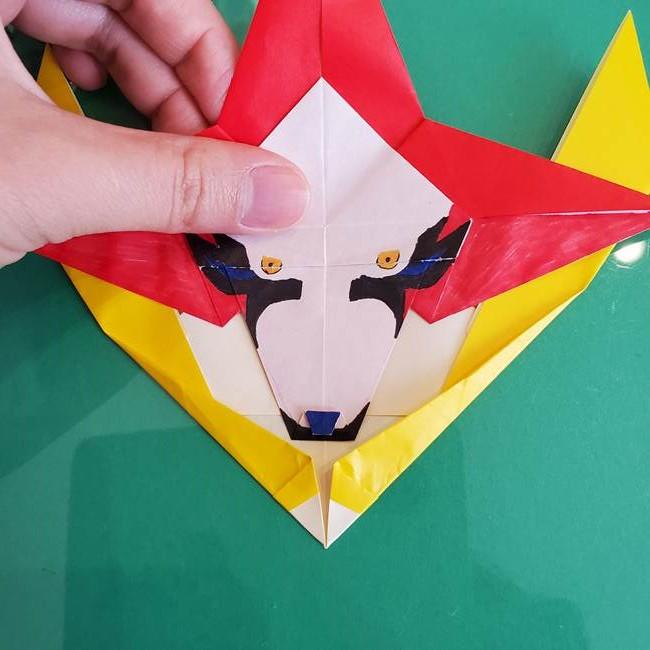 貼り合わせて折り紙のザマゼンタの完成♪(6)