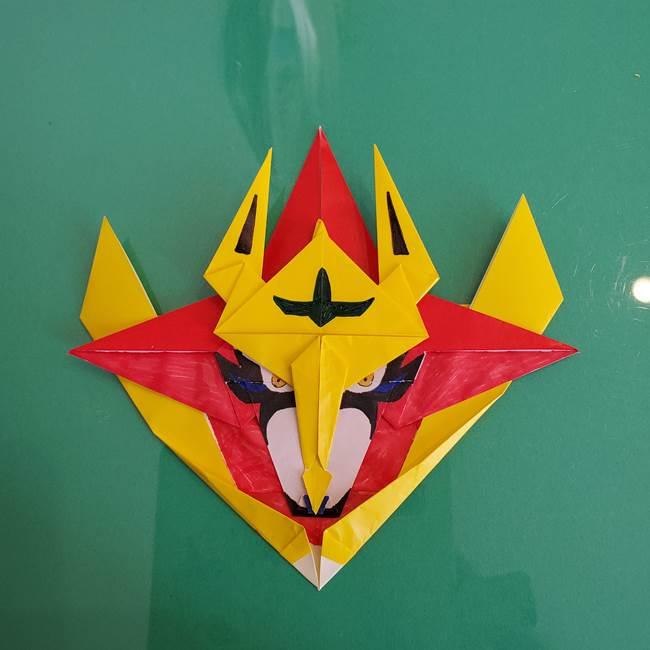 貼り合わせて折り紙のザマゼンタの完成♪(7)