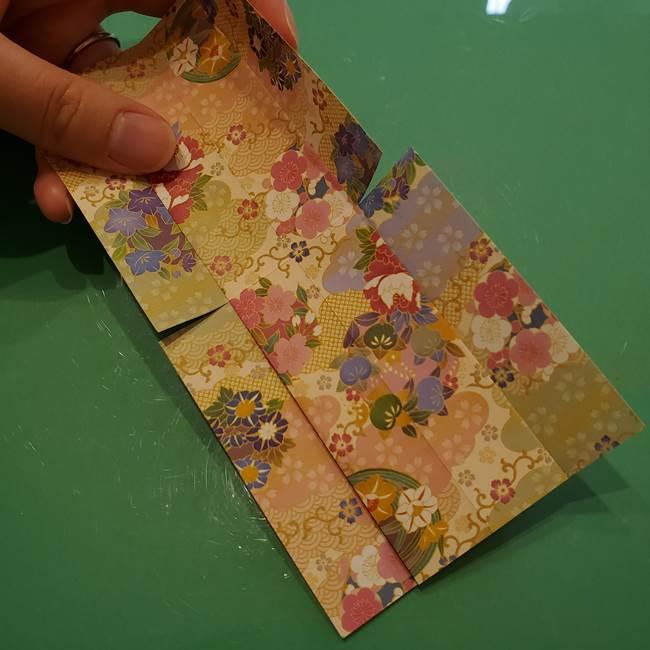 8月の折り紙 浴衣の折り方作り方①折り方(11)