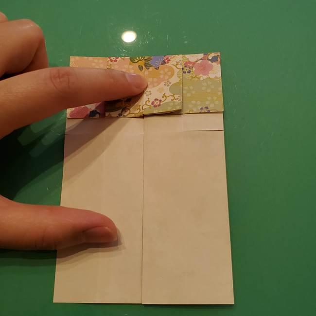 8月の折り紙 浴衣の折り方作り方①折り方(13)