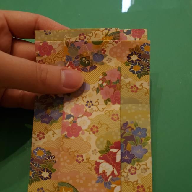 8月の折り紙 浴衣の折り方作り方①折り方(15)
