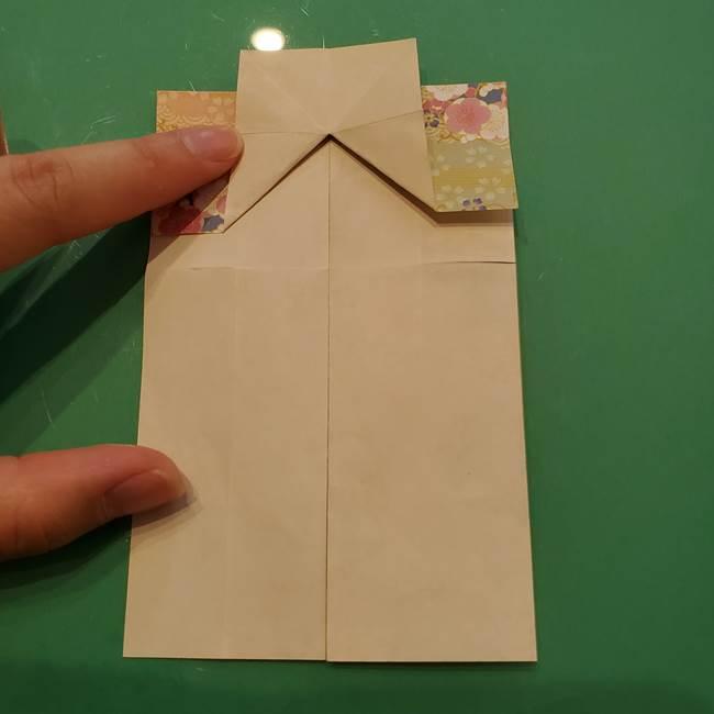 8月の折り紙 浴衣の折り方作り方①折り方(18)