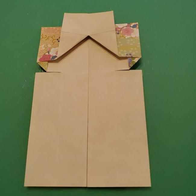 8月の折り紙 浴衣の折り方作り方①折り方(19)