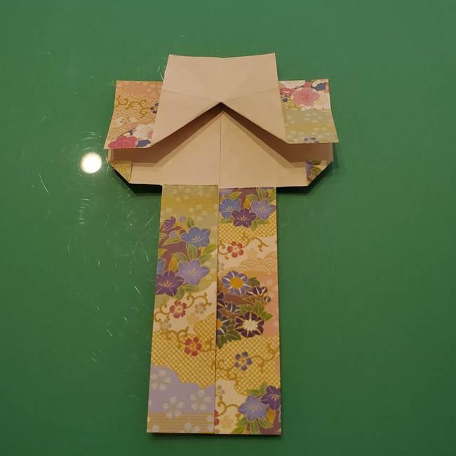 8月の折り紙 浴衣の折り方作り方①折り方(20)