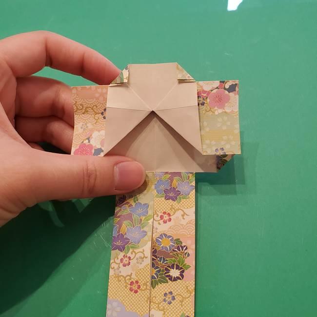 8月の折り紙 浴衣の折り方作り方①折り方(21)