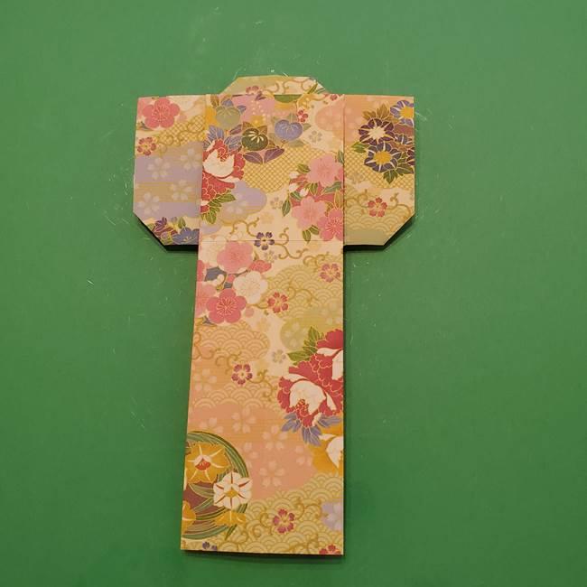8月の折り紙 浴衣の折り方作り方①折り方(22)