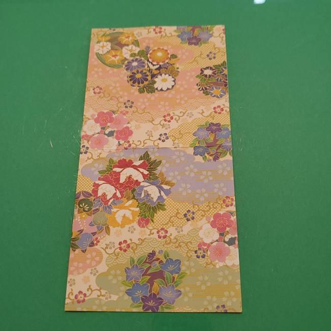 8月の折り紙 浴衣の折り方作り方①折り方(4)