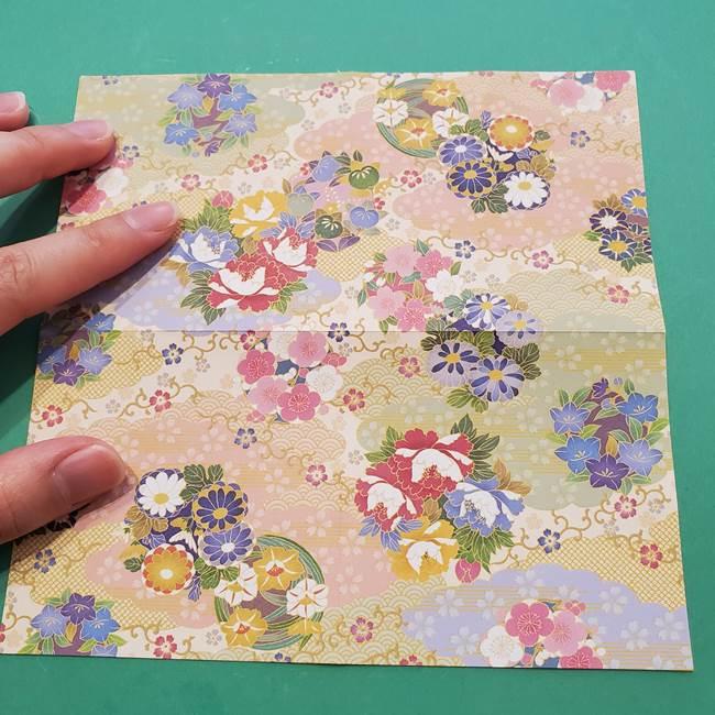 8月の折り紙 浴衣の折り方作り方①折り方(5)