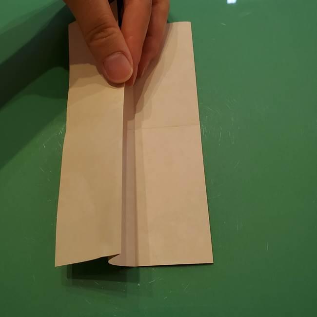 8月の折り紙 浴衣の折り方作り方①折り方(8)