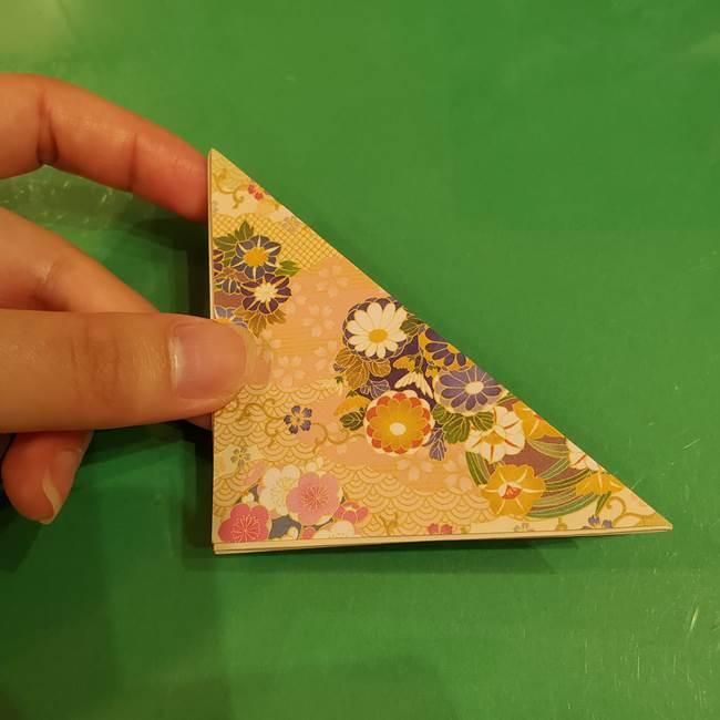 お月見団子の台の折り紙★三宝(三方)の折り方作り方(10)