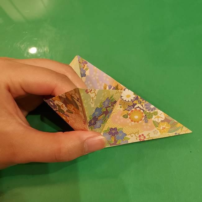 お月見団子の台の折り紙★三宝(三方)の折り方作り方(11)