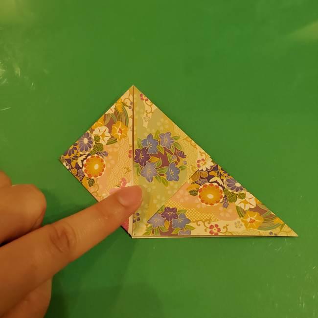 お月見団子の台の折り紙★三宝(三方)の折り方作り方(12)