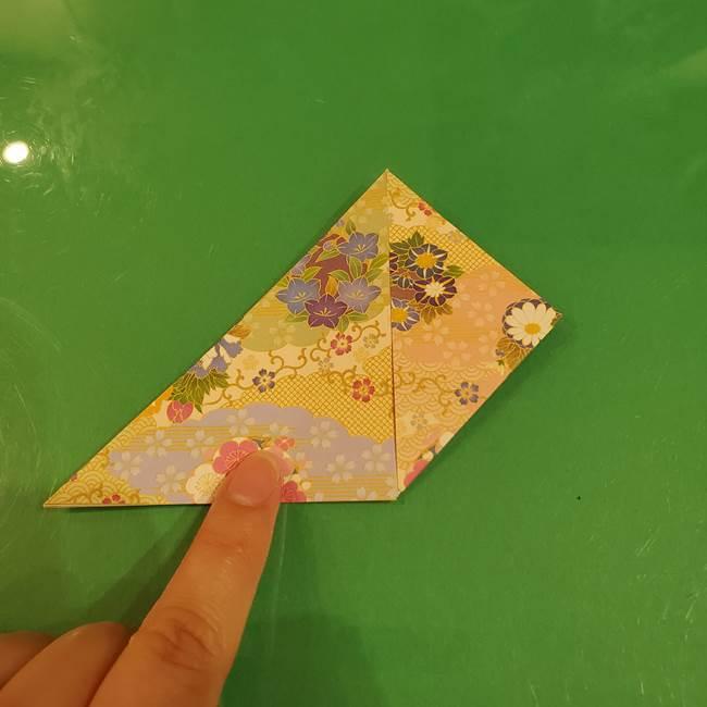 お月見団子の台の折り紙★三宝(三方)の折り方作り方(13)