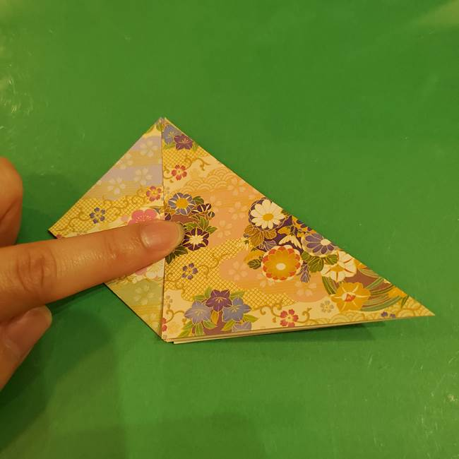 お月見団子の台の折り紙★三宝(三方)の折り方作り方(14)