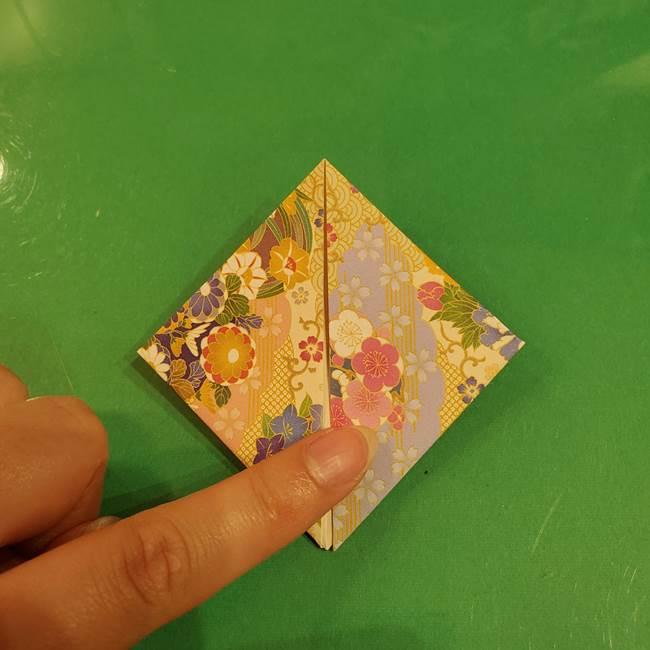 お月見団子の台の折り紙★三宝(三方)の折り方作り方(15)