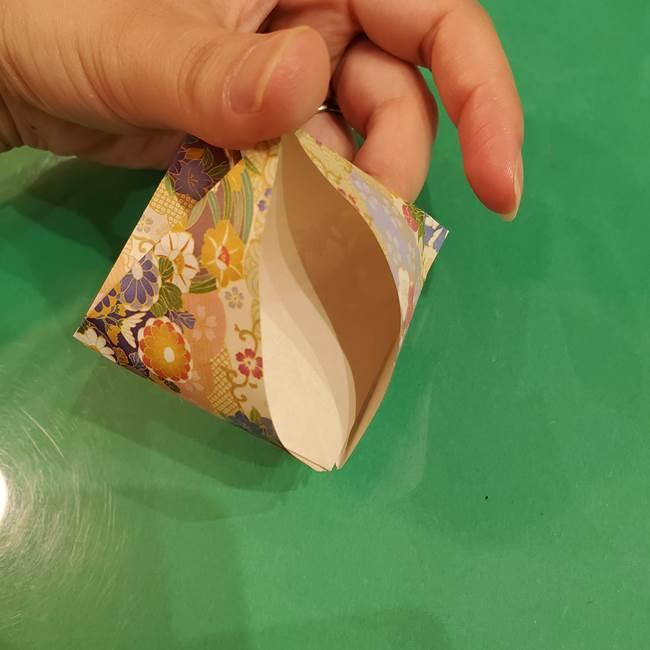 お月見団子の台の折り紙★三宝(三方)の折り方作り方(17)