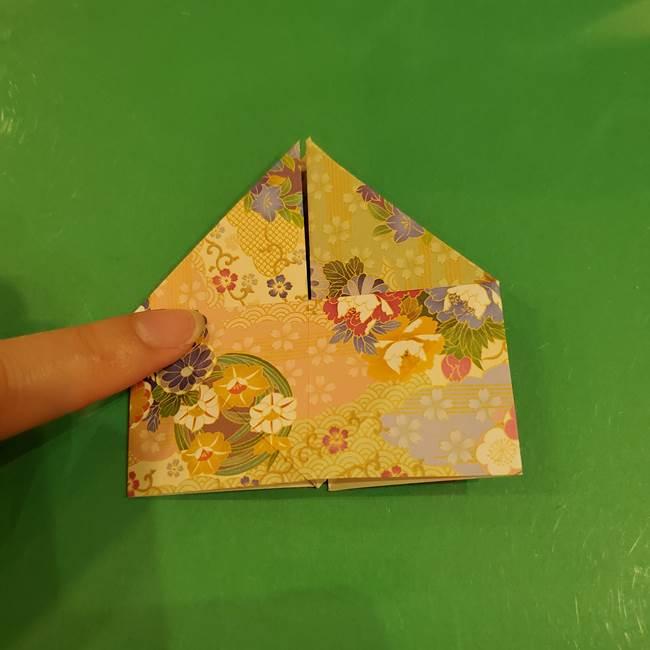 お月見団子の台の折り紙★三宝(三方)の折り方作り方(18)