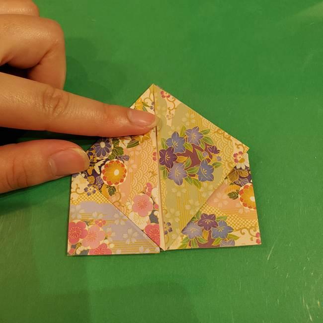 お月見団子の台の折り紙★三宝(三方)の折り方作り方(19)