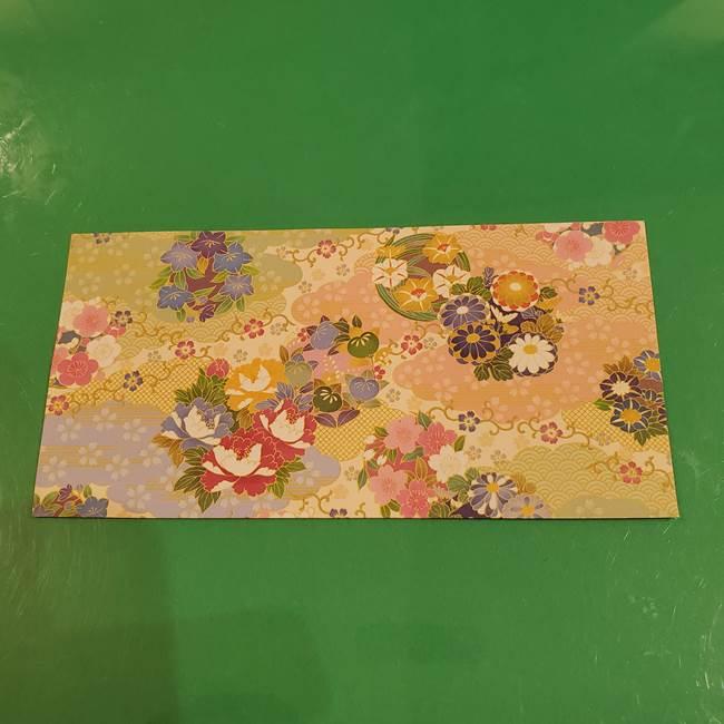 お月見団子の台の折り紙★三宝(三方)の折り方作り方(2)
