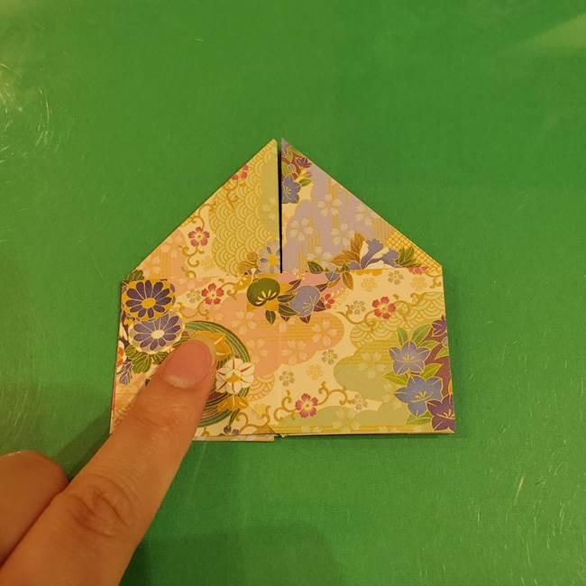 お月見団子の台の折り紙★三宝(三方)の折り方作り方(20)