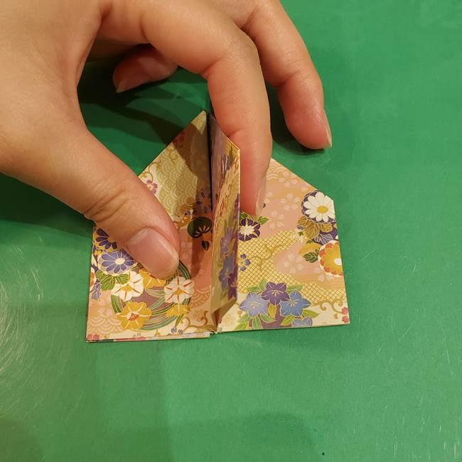 お月見団子の台の折り紙★三宝(三方)の折り方作り方(21)