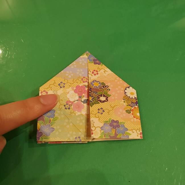 お月見団子の台の折り紙★三宝(三方)の折り方作り方(22)