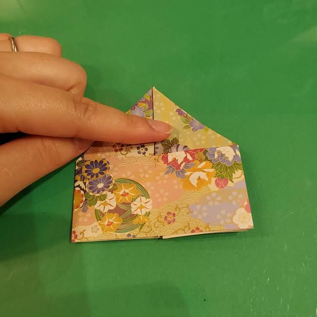 お月見団子の台の折り紙★三宝(三方)の折り方作り方(23)