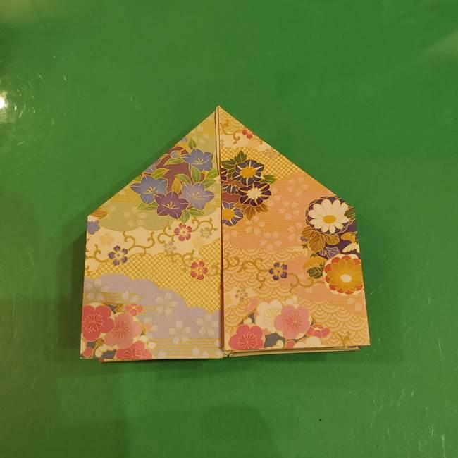 お月見団子の台の折り紙★三宝(三方)の折り方作り方(24)