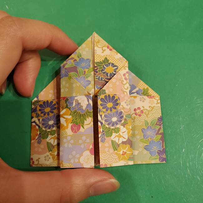 お月見団子の台の折り紙★三宝(三方)の折り方作り方(25)