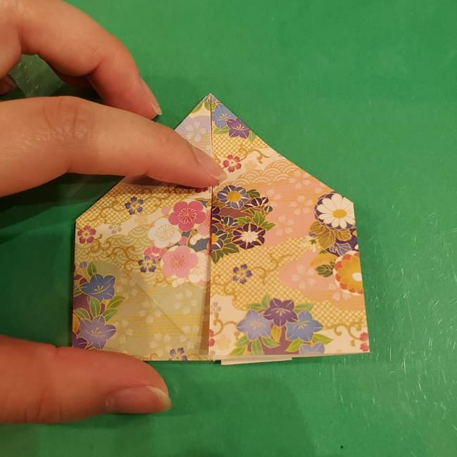 お月見団子の台の折り紙★三宝(三方)の折り方作り方(26)