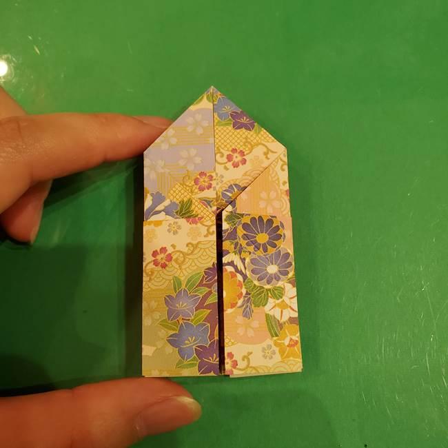 お月見団子の台の折り紙★三宝(三方)の折り方作り方(27)