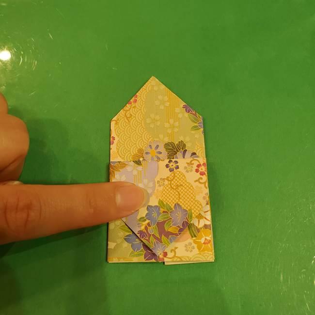 お月見団子の台の折り紙★三宝(三方)の折り方作り方(28)