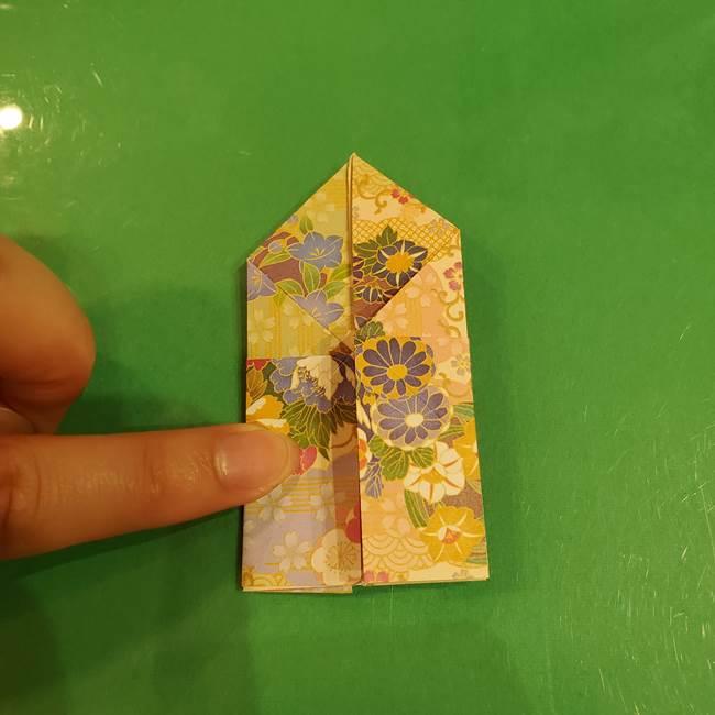 お月見団子の台の折り紙★三宝(三方)の折り方作り方(29)
