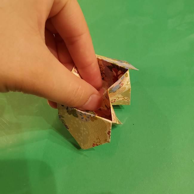 お月見団子の台の折り紙★三宝(三方)の折り方作り方(31)
